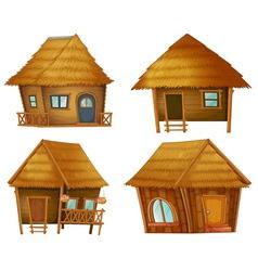 Hut series vector image vector image