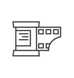 photo strip line icon sign vector image