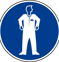Protective Clothing Must Be Worn Safety Sign vector image vector image