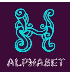 Doodle hand drawn sketch alphabet Letter H vector image