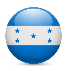 Round glossy icon of honduras vector