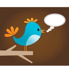 twitter bird vector image vector image