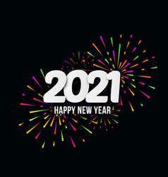 2021 happy new year with festive typographic vector