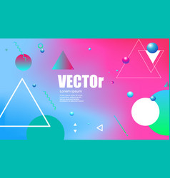 abstract gradients geometric background colorful vector image