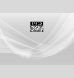 abstract gray wave background graphic design vector image