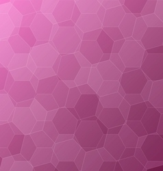 Abstract pink background with hexagons vector image