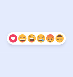 abstract set emoticons emoji flat style icons vector image