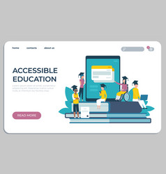 accessible education website online learning for vector image