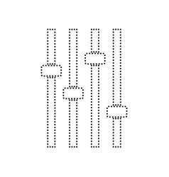 Adjustment music line sign black dotted vector