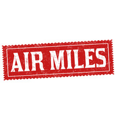 Air miles sign or stamp vector