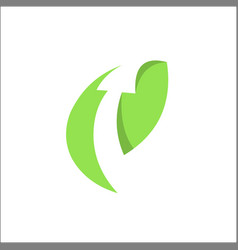 arrow leaf finance nature symbol logo vector image