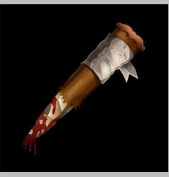 Aspen stake wooden stick against vampires vector