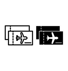 aviation tickets line and glyph icon avia tickets vector image