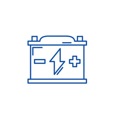 battery line icon concept battery flat vector image
