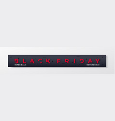 black friday premium banner or header red modern vector image