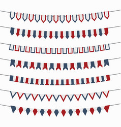 bunting flags garland on a white background vector image