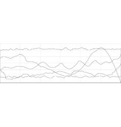 Business flat graph trend chart scheme vector image