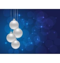 christmas bokeh background vector image