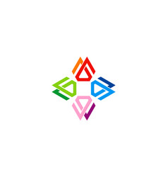 circle colorful geometry logo vector image