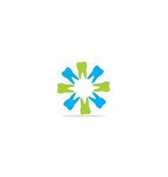 circle dental tooth logo vector image