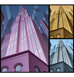 Cityscape Vertical 2 vector