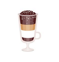 coffee cocktail in irish coffee mug vector image