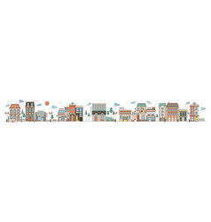 colorful horizontal cityscape with street of vector image