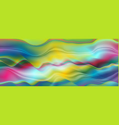 colorful liquid abstract smooth waves background vector image