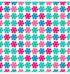 Colorful seamless pattern with floral elements vector