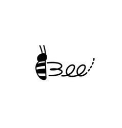 Creative bee insect letter abstract logo vector