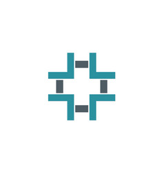 cross plus geometry logo vector image