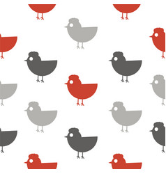 cute chicken seamless pattern vector image