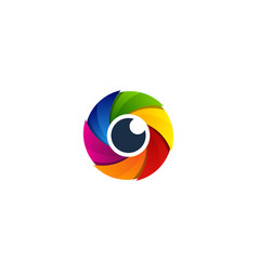 Eye camera logo icon design vector