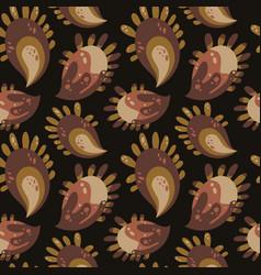 flat naive fantasy paisley flower pattern vector image