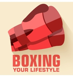 Flat sport boxing background concept Flat s vector image