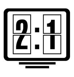football scoreboard icon simple black style vector image