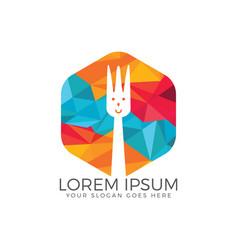 fork icon food logo design vector image
