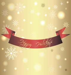 Golden shiny card for christmas and new year vector image