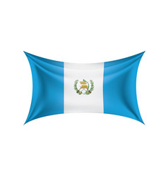 guatemala flag on a white vector image