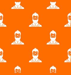 hipsster man pattern seamless vector image vector image