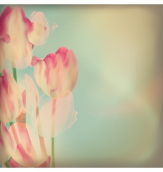 Invitation with abstract tulips EPS 10 vector image