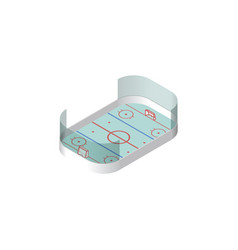 isolated hockey isometric ice games vector image