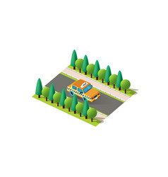 Isometric right view yellow taxi vector