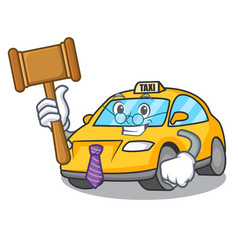 Judge taxi character mascot style vector
