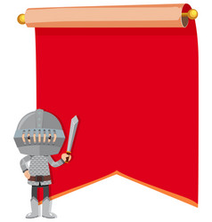 knight on paper template vector image