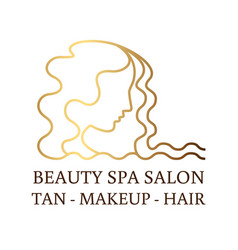logo for beauty salon spa salon beauty shop vector image