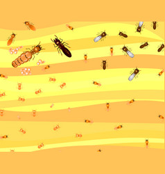 Low poly termite with soft orange back ground vector