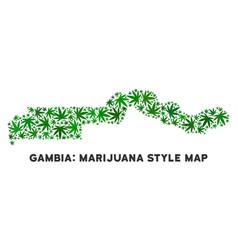 Marijuana mosaic the gambia map vector
