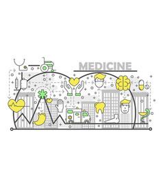 Medicine concept flat line art vector
