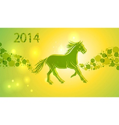 multicolor chinese new year horse 2014 vector image